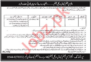 Irrigation Department Jobs 2019 in Jhelum