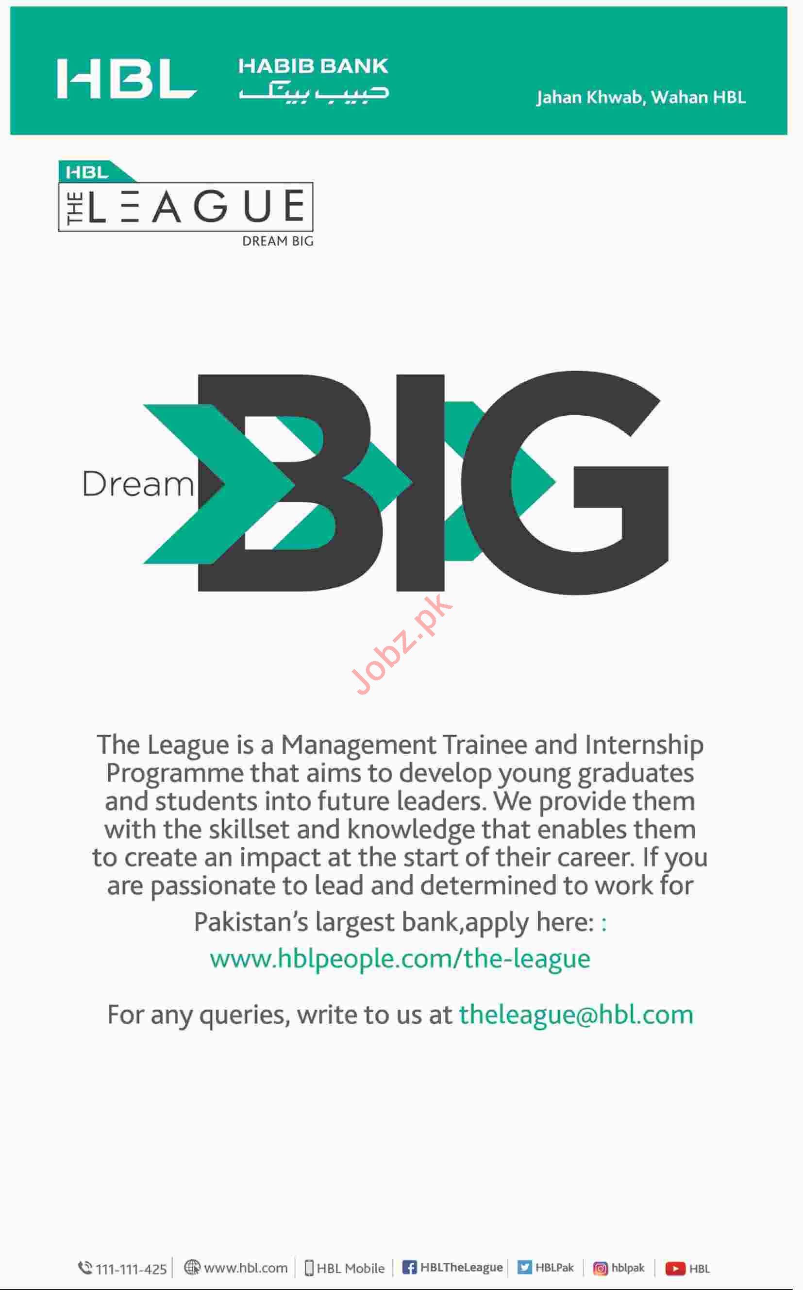 Management Trainee Jobs at HBL