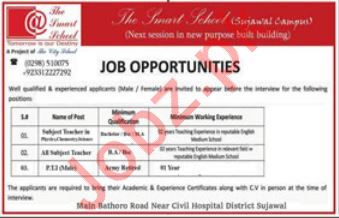 The Smart School Sujawal Campus Jobs 2019