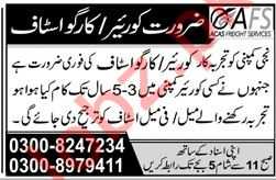 Courier and Cargo Staff Required