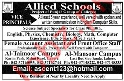 Allied Schools Lahore Jobs 2019 for Teachers