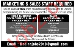 Marketing & Sales Staff Jobs 2019 in Lahore