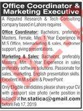Office Coordinator & Marketing Executive Jobs 2019