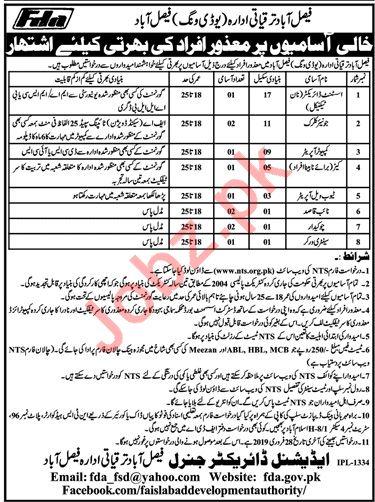 Faisalabad Development Authority FDA Jobs 2019 for Directors