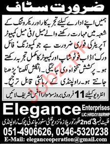 Computer Operator Jobs in Private Company