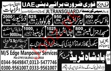 House Keeper, Aircraft Cleaner, Cargo Loader & Driver Jobs
