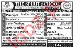 The Spirit School Koral Campus Jobs 2019 in Islamabad