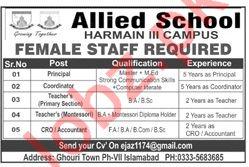 Allied School Harmain III Campus Jobs 2019 in Islamabad