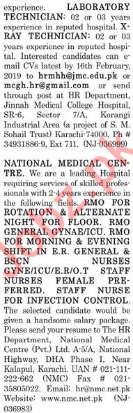 The News Sunday Classified Ads 10th Feb 2019 Medical Staff