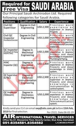 Saudi Archirodon Ltd Jobs 2019 in Saudi Arabia