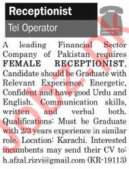 The News Sunday Classified Ads 10th Feb 2019 Receptionist