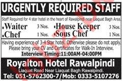 Royalton Hotel Jobs 2019 in Rawalpindi