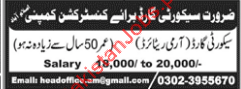 Security Guard Jobs in Construction Company