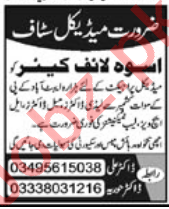 Doctor, Lady Doctor, Medical Officer & Lab Technician Jobs