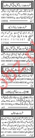 Office Staff & Domestic Staff Jobs 2019 in Lahore