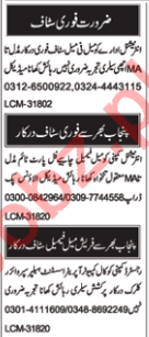 Male & Female Staff Jobs 2019 in Multan