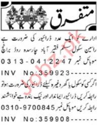 Driving Jobs 2019 in Peshawar