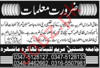 Teaching Jobs 2019 For Manshera KPK