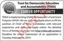 Trust for Democratic Education & Accountability TEDA Jobs