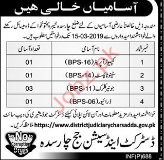 District & Session Judge Officer Clerical Jobs 2019