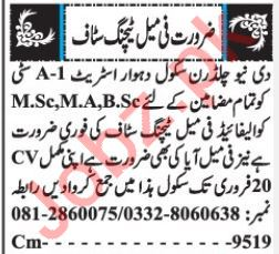 Female Teaching Staff Jobs Career Opportunity