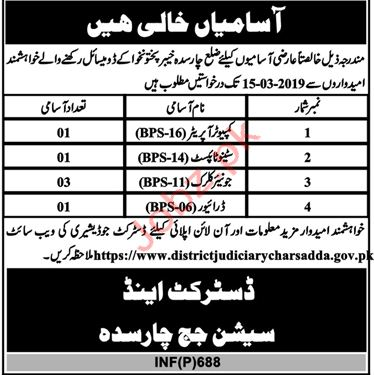 Clerical Staff Jobs in District & Session Judge
