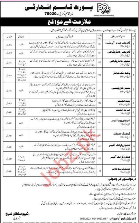 Port Qasim Authority Jobs 2019 in Karachi