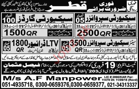 Security Supervisor, Security Guard & LTV Driver Jobs 2019