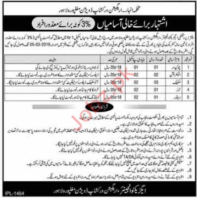 Technical Staff jobs in Irrigation Department