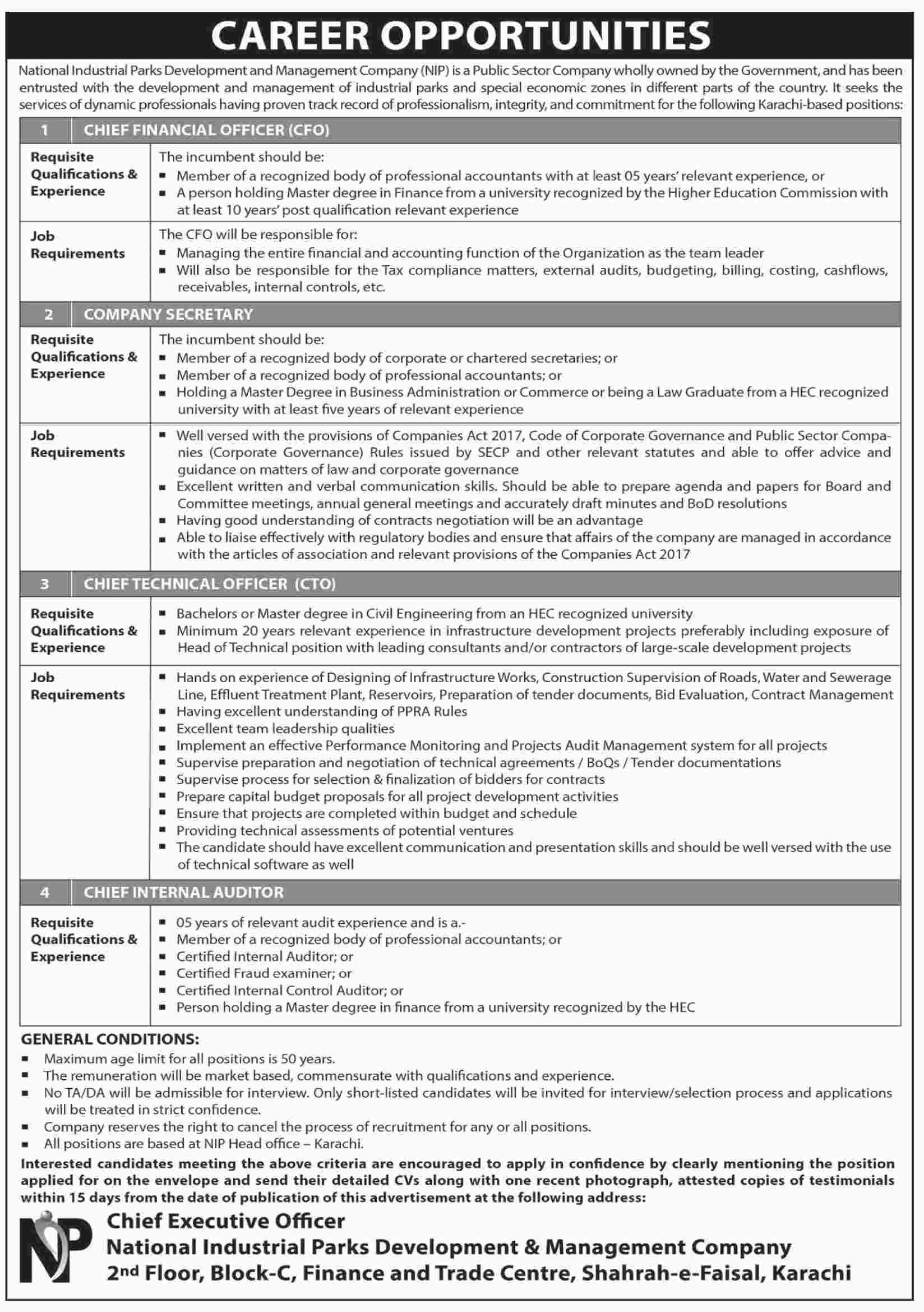 national industrial parks development  u0026 management jobs