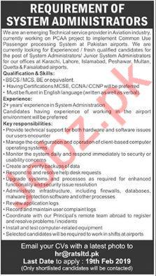 Reliance Aviation Tech Services Ltd System Administrator Job
