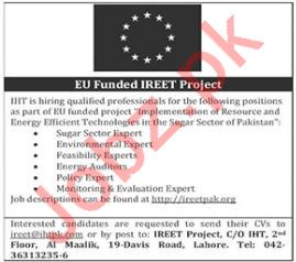 Sugar Sector Expert Jobs at IREET Project