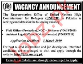 Field Officer Protection NOC Jobs at UNHCR