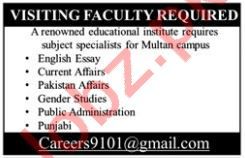 English Teacher Jobs at Educational Institute