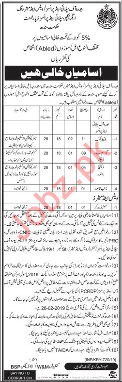 Agriculture, Supply & Prices Department Jobs 2019