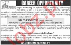 Edge Marketing Pvt Limited Sales Executive Jobs