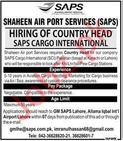 Country Head Job in Karachi, Lahore, Islamabad & Peshawar