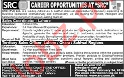 SRC Pvt Limited Sales Coordinator Job Opportunities