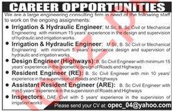 Irrigation and Hydraulic Engineer Jobs