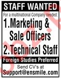 Marketing Officer, Sale Officers & Technical Jobs 2019