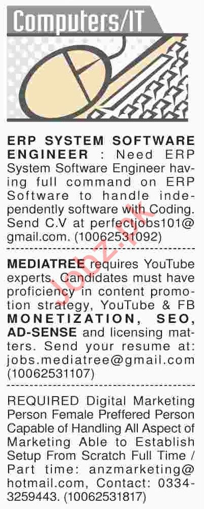Dawn Sunday Classified Ads 17th Feb 2019 for IT Staff