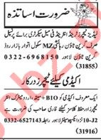 Nawaiwaqt Sunday Classified Ads 17th Feb 2019 Teaching Staff