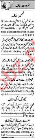 Dunya Sunday Classified Ads 17th Feb 2019 for Office Staff
