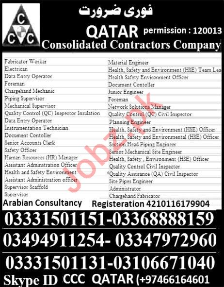 Fabricator, Electrician, Data Entry Operator & Foreman Jobs