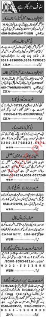 Daily Khabrain Miscellaneous Staff Jobs 2019 in Islamabad