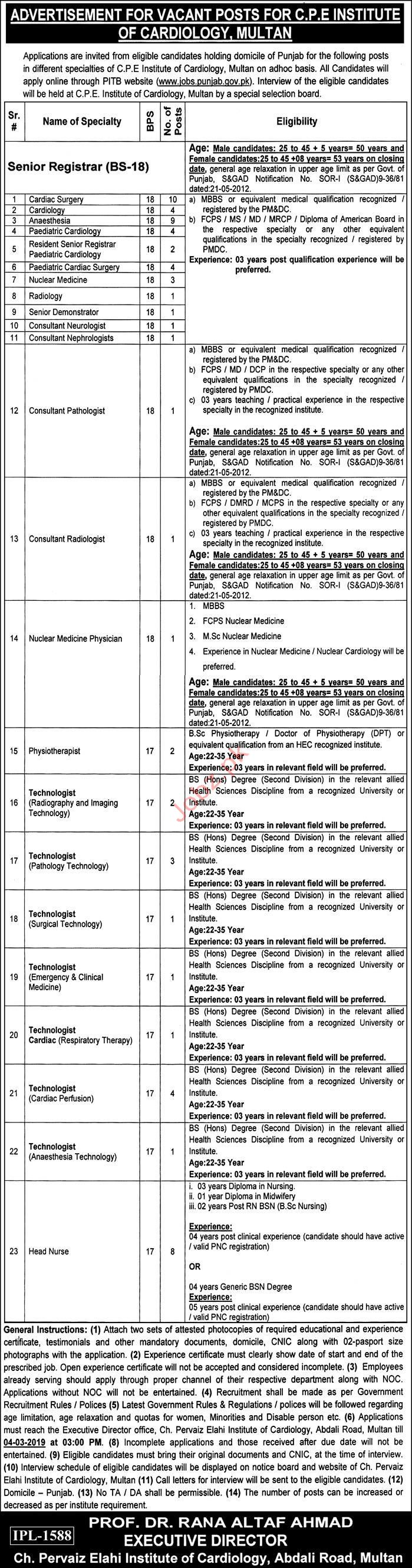 CPE Institute of Cardiology Jobs 2019