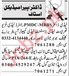 Doctor & Para Medical Jobs 2019 In Lahore