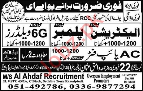 Electrician, Plumber, Welder & AC Pipe Fitter Jobs 2019