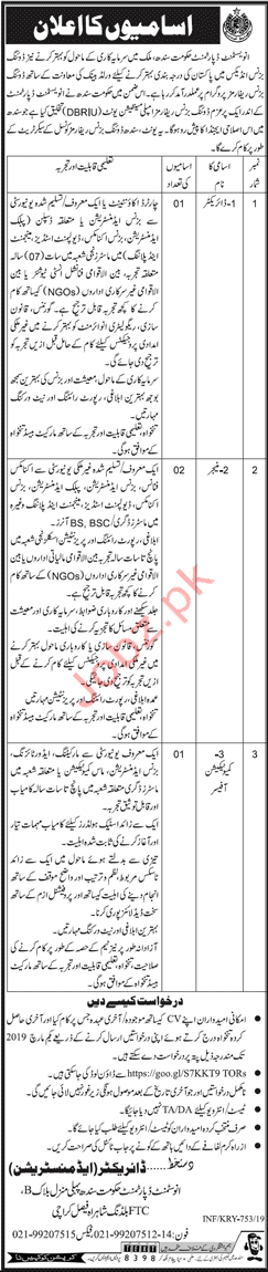 Investment Department Manager & Directior Jobs 2019