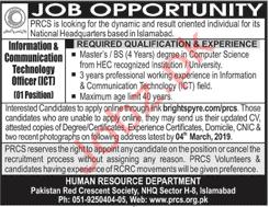 Pakistan Red Crescent Society PRSC Jobs 2019